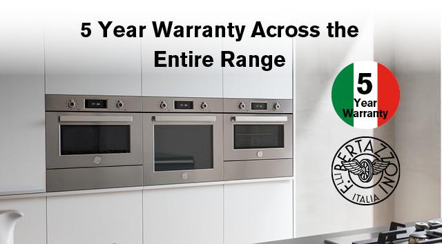 Bertazzoni 5 Year Warranty Oct Nov 2021