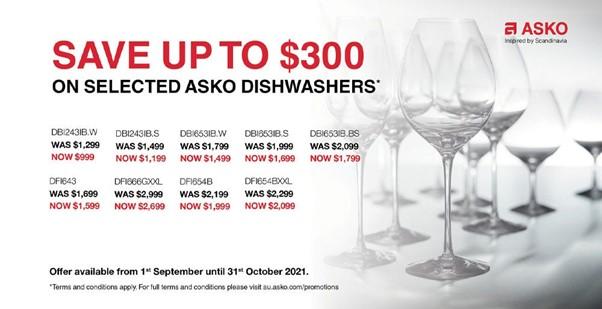 ASKO Dishwasher Sale Save $300 Sept Oct 2021