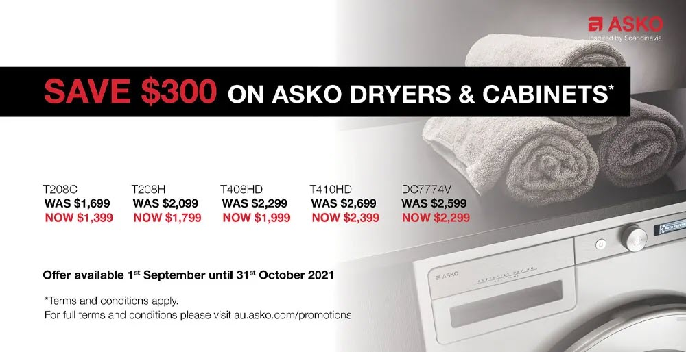 ASKO Dryer Cabinets Sale Save Up To $300 Sept Oct 2021