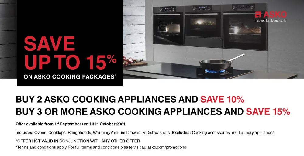 ASKO Save Up to 15% Sale Sept Oct 2021
